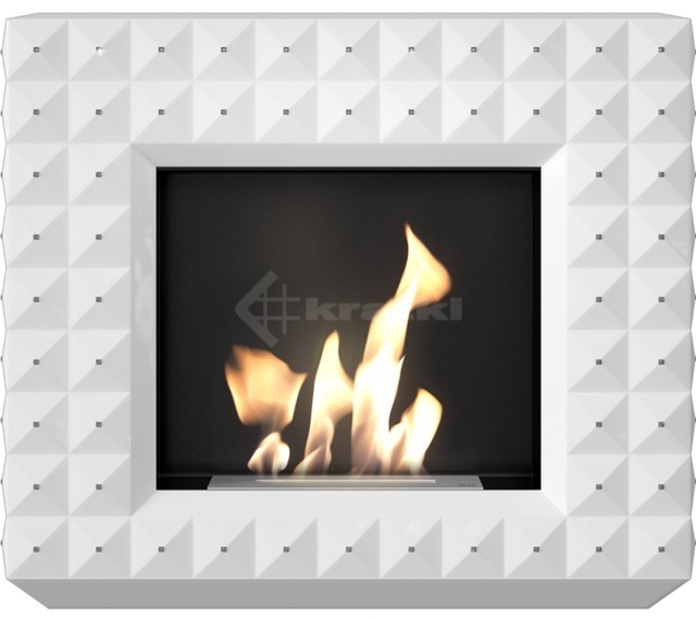 Біокамін Kratki Egzul білий матовий з кристалами Swarovski TÜV. Фото 2