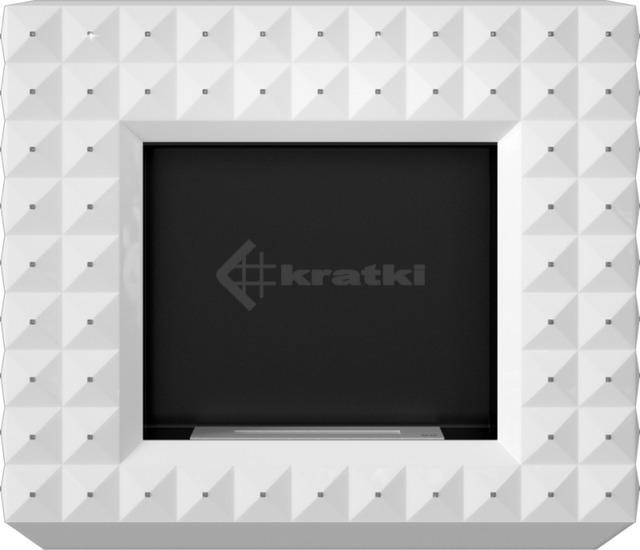 Біокамін Kratki Egzul білий матовий з кристалами Swarovski TÜV. Фото 4