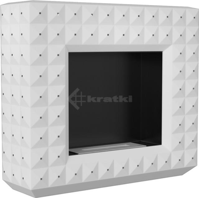 Біокамін Kratki Egzul білий матовий з кристалами Swarovski TÜV. Фото 3