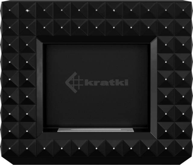 Біокамін Kratki Egzul чорний матовий з кристалами Swarovski TÜV. Фото 4