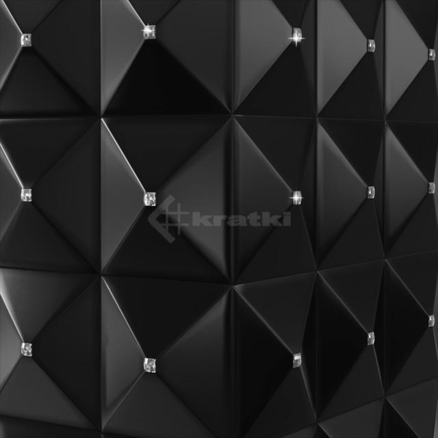 Біокамін Kratki Egzul чорний матовий з кристалами Swarovski TÜV. Фото 5