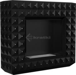 Біокамін Kratki Egzul чорний матовий з кристалами Swarovski TÜV. Фото 3