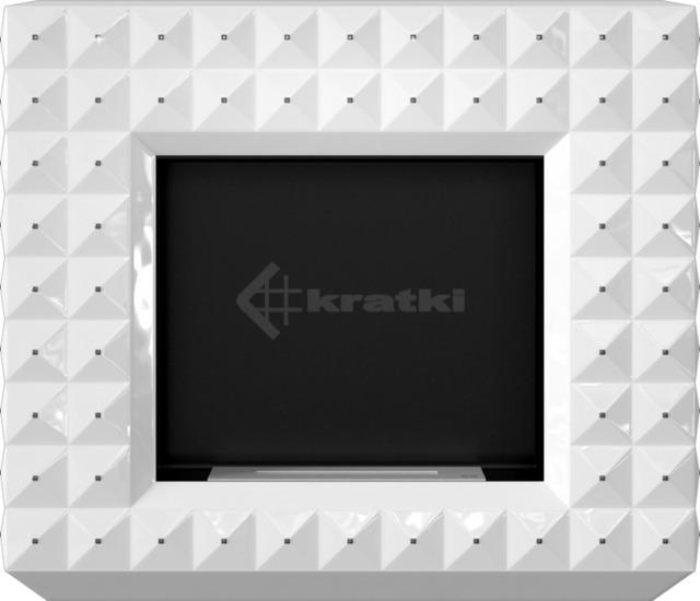 Біокамін Kratki Egzul білий глянцевий з кристалами Swarovski TÜV. Фото 2