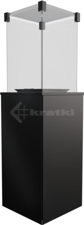 Газовый обогреватель Kratki Patio Mini сталь. Фото 2