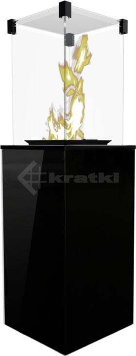 Газовый обогреватель Kratki Patio Mini черный
