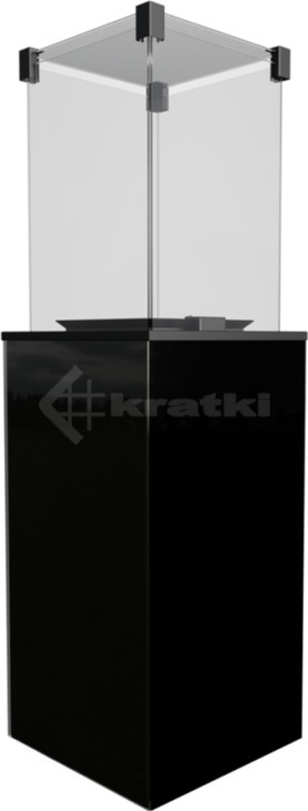 Газовый обогреватель Kratki Patio Mini черный. Фото 2