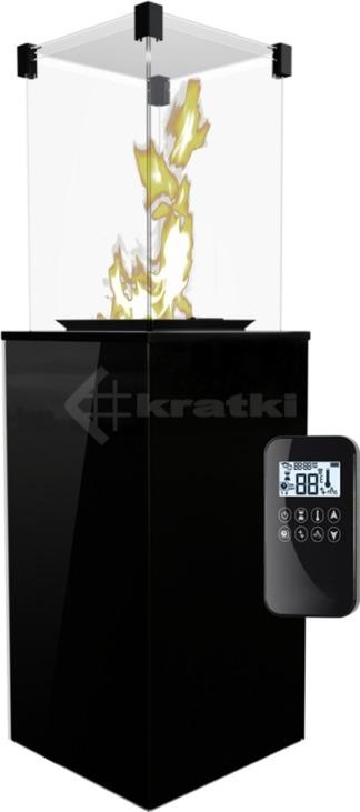Газовый обогреватель Kratki Patio черный, с пультом. Фото 2