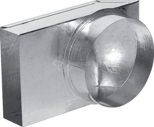 Переходник канал-труба 90° Kratki Ø125