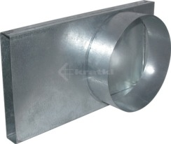 Переходник долот-труба 90° Kratki Ø150 для подвода воздуха