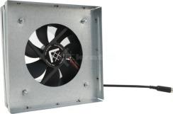 Выход под решетку с вентилятором и датчиком Kratki 17х17 Ø100