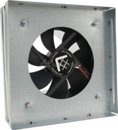 Выход под решетку с вентилятором и датчиком Kratki 17х17 Ø100. Фото 2