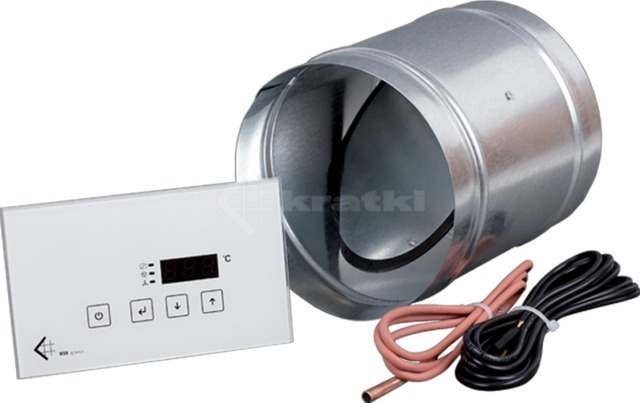 Микропроцессорный контроллер с клапаном Kratki MSK Glass Ø100