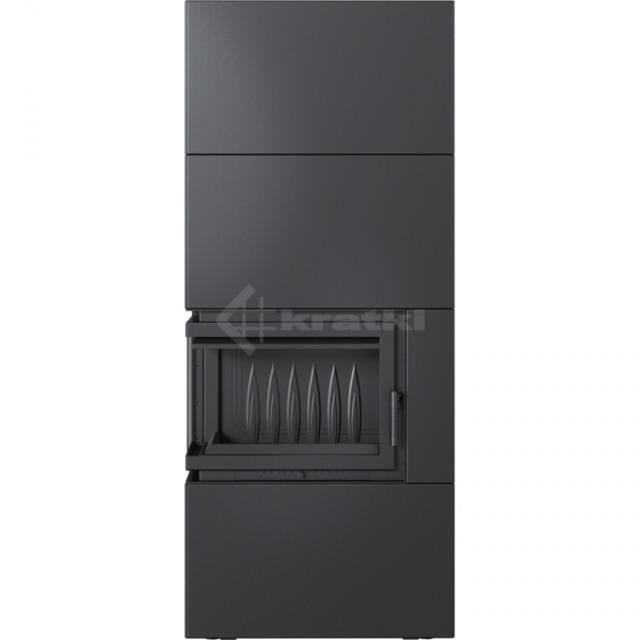 Модульный камин Kratki Simple Box L/S/Black 8 кВт. Фото 2