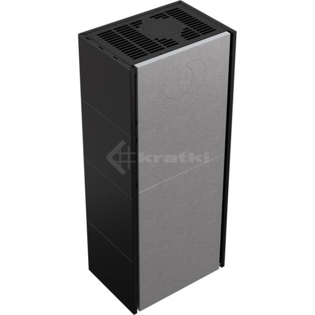 Модульный камин Kratki Simple Box L/S/Black 8 кВт. Фото 4
