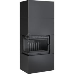 Модульный камин Kratki Simple Box L/S/Black 8 кВт