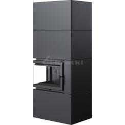 Модульный камин Kratki Simple Box L/S/Black 8 кВт. Фото 3