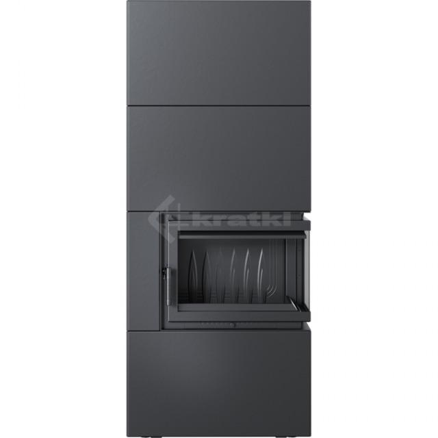 Модульный камин Kratki Simple Box P/S/Black 8 кВт. Фото 2