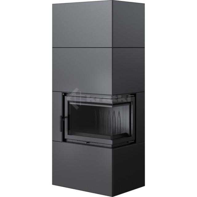 Модульный камин Kratki Simple Box P/S/Black 8 кВт