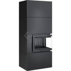 Модульный камин Kratki Simple Box P/S/Black 8 кВт. Фото 3