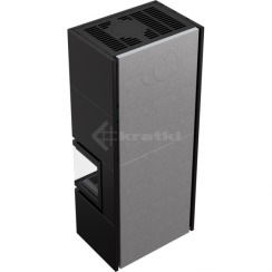 Модульный камин Kratki Simple Box P/S/Black 8 кВт. Фото 4