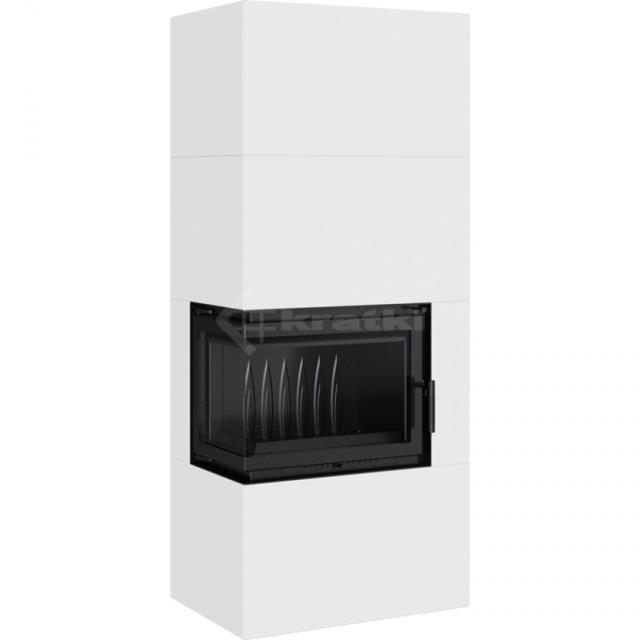 Модульний камін Kratki Simple Box L/S/Bianco 8 кВт