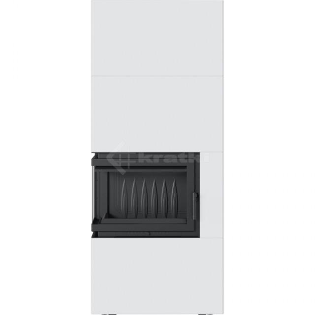 Модульний камін Kratki Simple Box L/S/Bianco 8 кВт. Фото 2