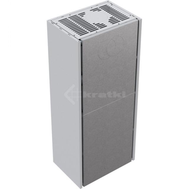 Модульний камін Kratki Simple Box L/S/Bianco 8 кВт. Фото 4