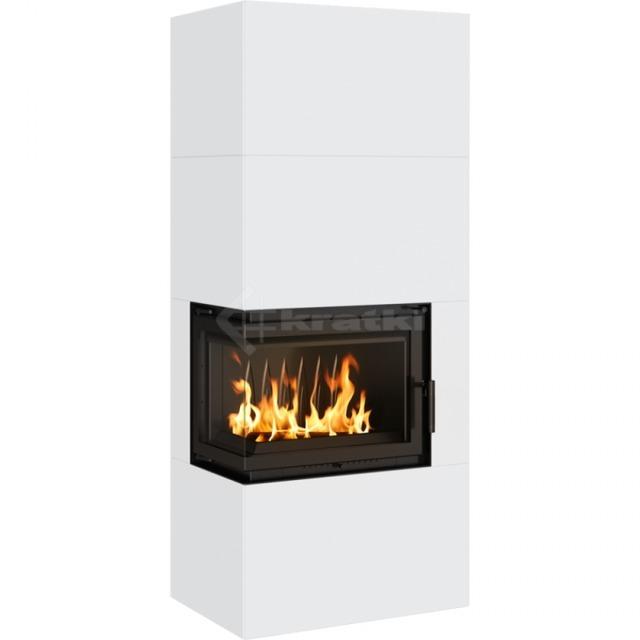 Модульний камін Kratki Simple Box L/S/Bianco 8 кВт. Фото 5