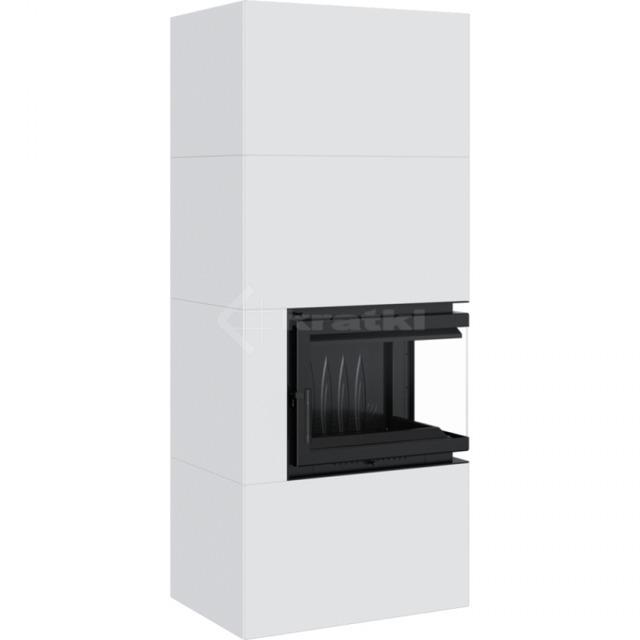 Модульний камін Kratki Simple Box P/S/Bianco 8 кВт. Фото 3