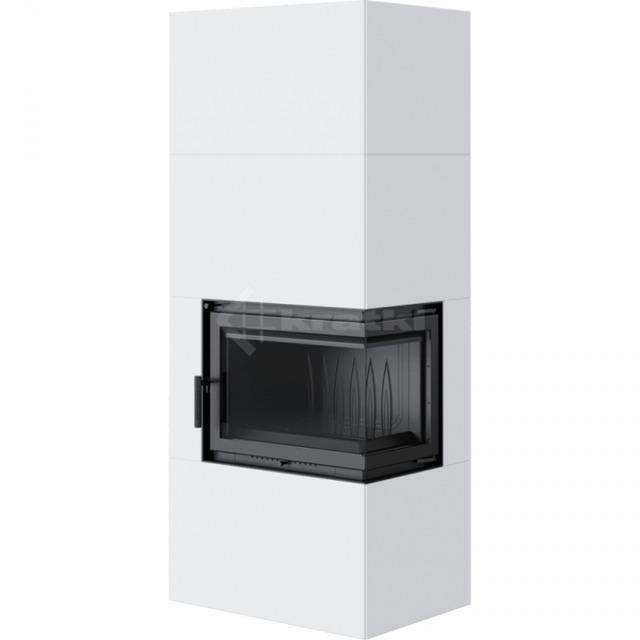 Модульний камін Kratki Simple Box P/S/Bianco 8 кВт