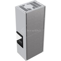 Модульний камін Kratki Simple Box P/S/Bianco 8 кВт. Фото 4