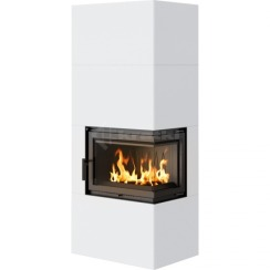 Модульний камін Kratki Simple Box P/S/Bianco 8 кВт. Фото 5