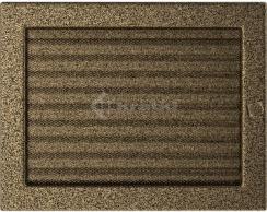 Решетка для камина Kratki 22х30 черно-золотая, с жалюзи. Фото 2