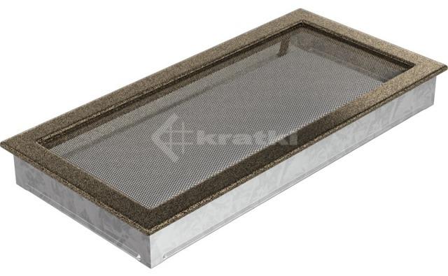Решетка для камина Kratki 22х45 черно-золотая. Фото 2