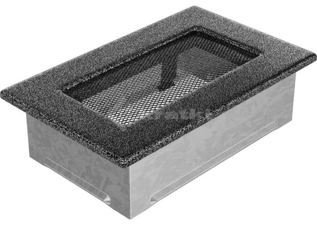 Решетка для камина Kratki 11х17 черно-серебряная. Фото 2