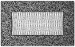 Решетка для камина Kratki 11х17 черно-серебряная