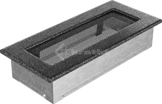 Решетка для камина Kratki 11х24 черно-серебряная. Фото 2