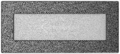 Решетка для камина Kratki 11х24 черно-серебряная