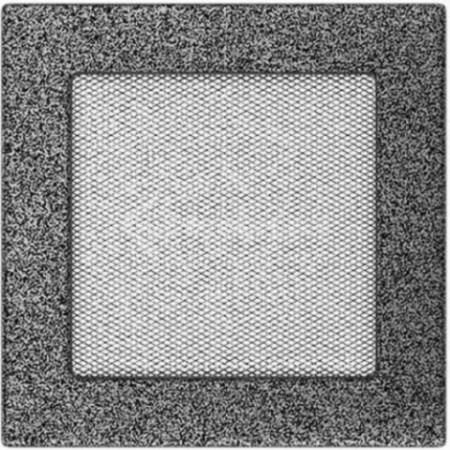 Решетка для камина Kratki 17х17 черно-серебряная