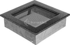 Решетка для камина Kratki 17х17 черно-серебряная. Фото 2