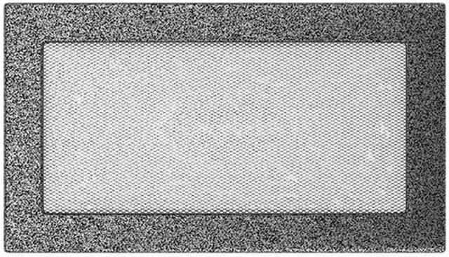 Решетка для камина Kratki 17х30 черно-серебряная