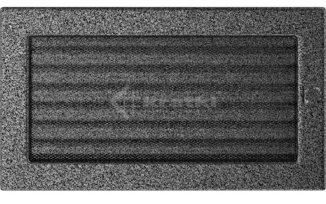 Решетка для камина Kratki 17х30 черно-серебряная, с жалюзи. Фото 2