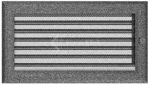 Решетка для камина Kratki 17х30 черно-серебряная, с жалюзи