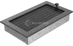 Решетка для камина Kratki 17х30 черно-серебряная, с жалюзи. Фото 3