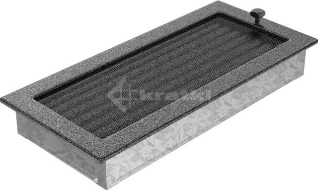 Решетка для камина Kratki 17х37 черно-серебряная, с жалюзи. Фото 2