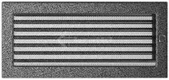 Решетка для камина Kratki 17х37 черно-серебряная, с жалюзи