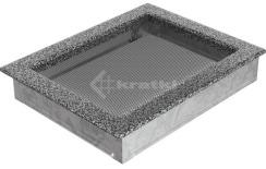 Решетка для камина Kratki 22х30 черно-серебряная. Фото 2