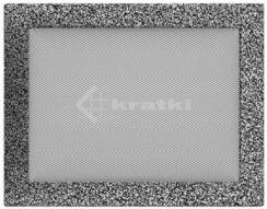 Решетка для камина Kratki 22х30 черно-серебряная