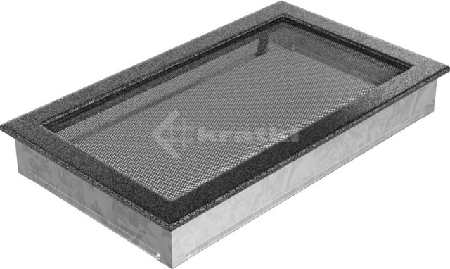 Решетка для камина Kratki 22х37 черно-серебряная. Фото 2