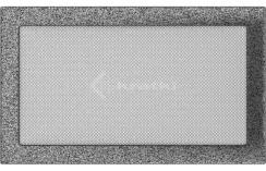 Решетка для камина Kratki 22х37 черно-серебряная